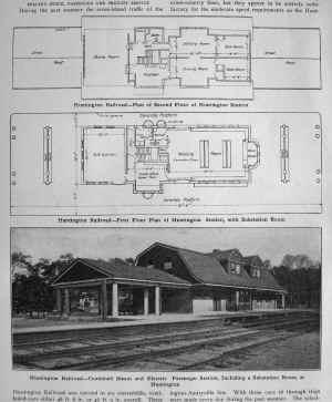 LIRR Huntington Station Floor Plan - Electric Ry Journal-1909.jpg (286970 bytes)
