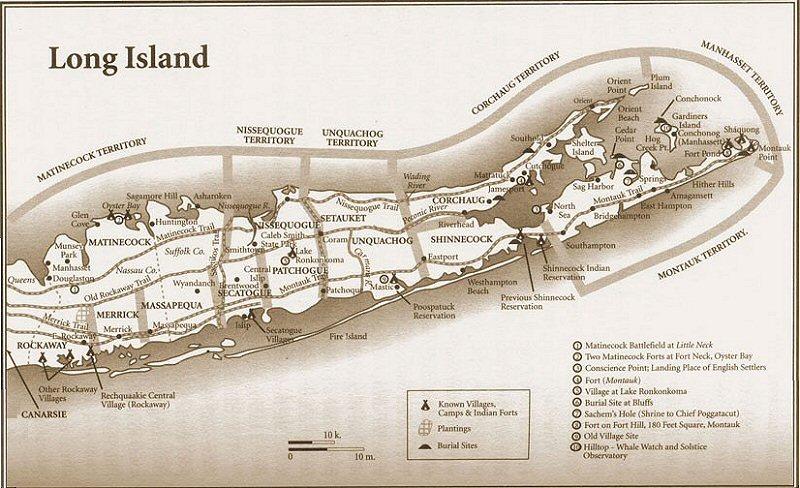 Native American Locations - Montuak Branch