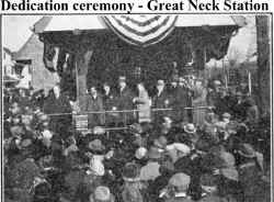 Great Neck 1925 dedication ceremony.jpg (175479 bytes)