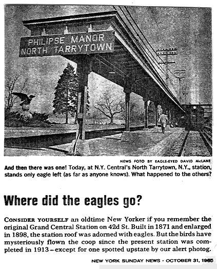 Philipse Manor New York: PRR Station Eagles